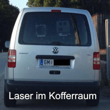 Laser im Kofferraum